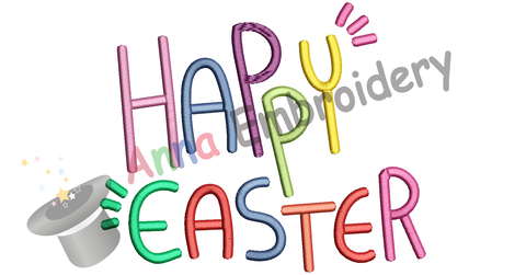 Free Happy Easter Embroidery Design, Free Machine Patterns, Instant Download