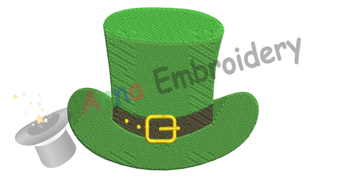 Free Embroidery Hat-St. Patrick's Day Embroidery Design-Hat-Lucky-Machine Patterns