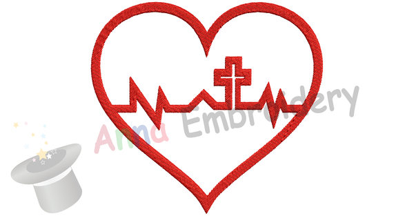Faith in my Heart Embroidery Design-Heart Embroidery-Jesus Love Embroidery Design-Symbols Embroidery-Embroidery Patterns-Instant Download-PES