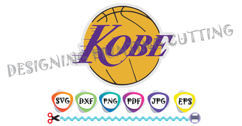 Kobe Bryant Svg- Lakers KOBE-Basketball Bryant-T-shirt svg- Silhouette Cutting- Svg file for Cricut-Eps- Dxf- Pdf-Kids svg