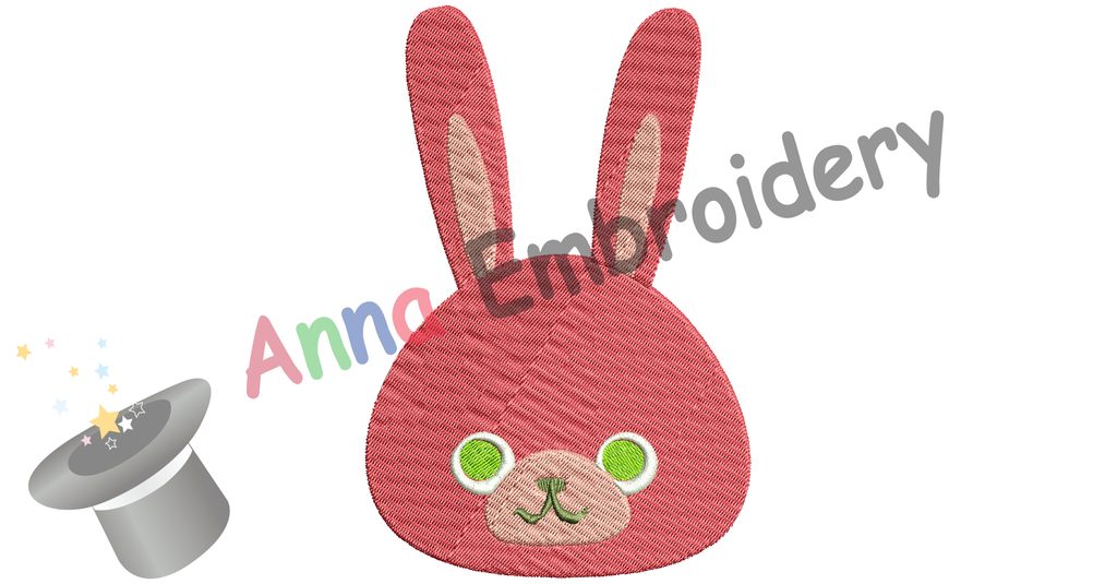 Free Easter Bunny Embroidery Design, Free Rabbit Face Embroidery Design,Free Machine Patterns, Instant Download