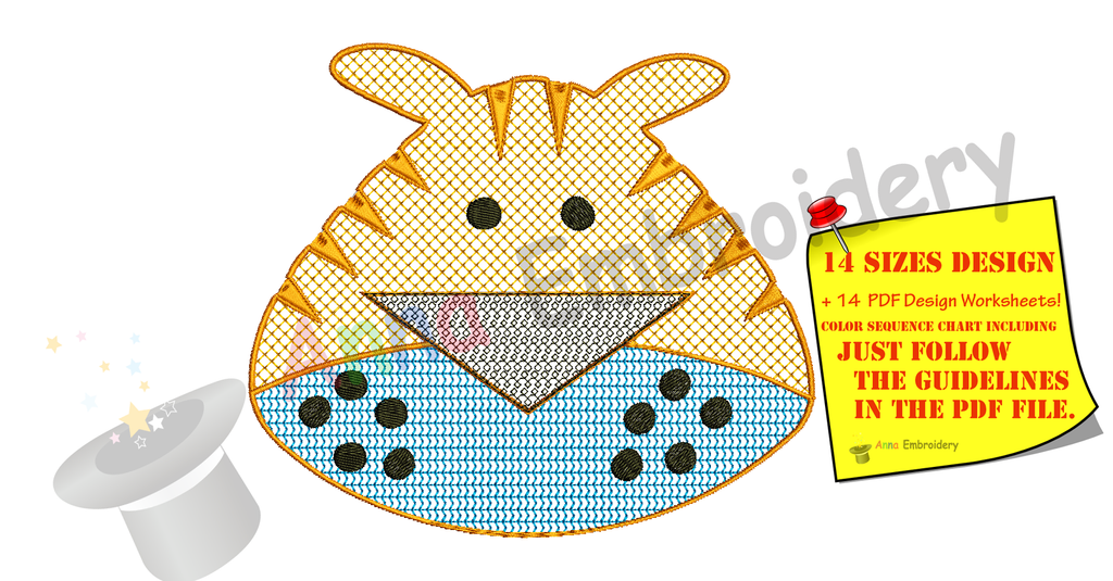 Tiger Head Embroidery Design- Lace Motif Tiger Embroidery-Cartoons Machine Embroidery Patterns-Instant Download-PES