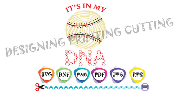 Baseball DNA SVG-Cut Files-Sports Svg-GIFT-Baseball Ball-Svg-T-shirt svg- Silhouette Cutting- Svg file for Cricut-Eps- Dxf- Pdf-