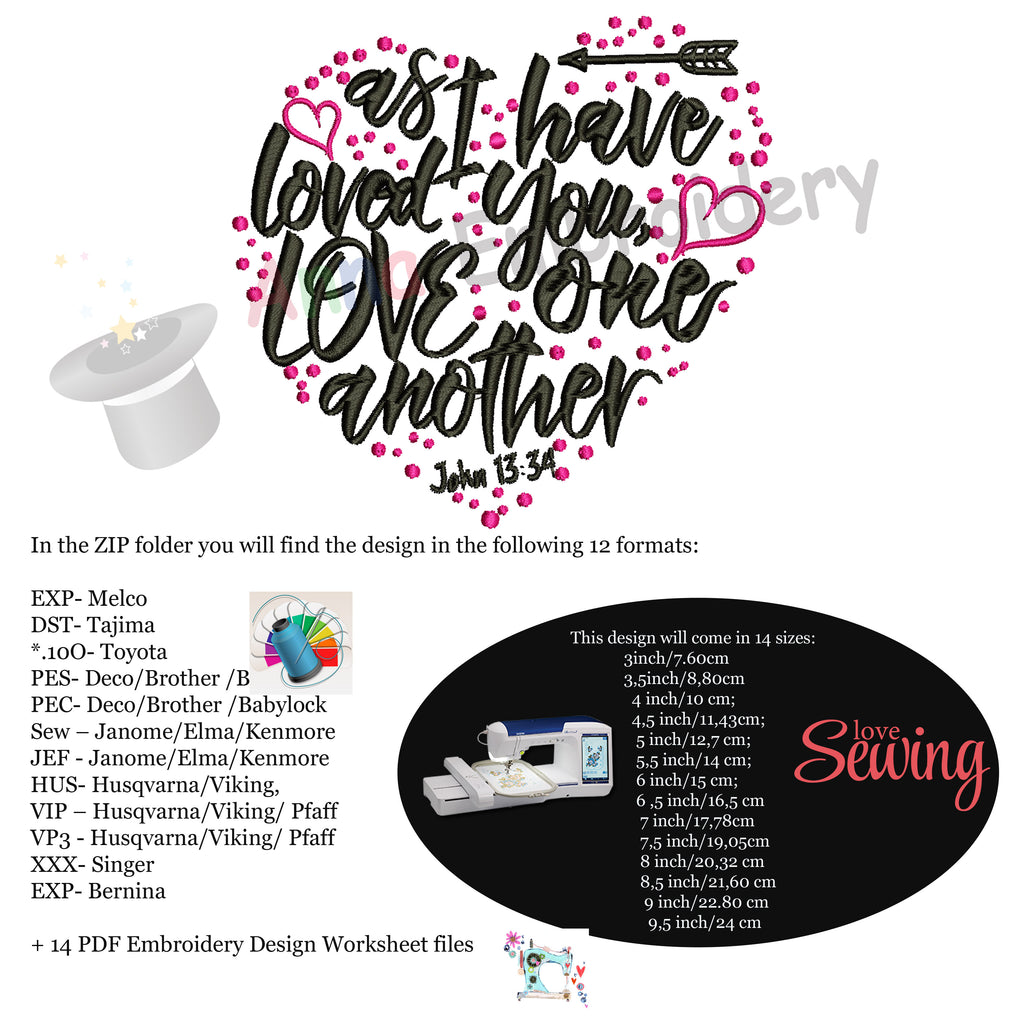 Bible Quotes Embroidery Design Christian Quotes Embroidery As I Have