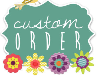 Custom Order Embroidery Design