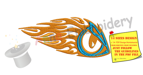 Eye Embroidery Design- Flames Eye Embroidery- Tribal Embroidery -Machine Embroidery Patterns-Instant Download-PES