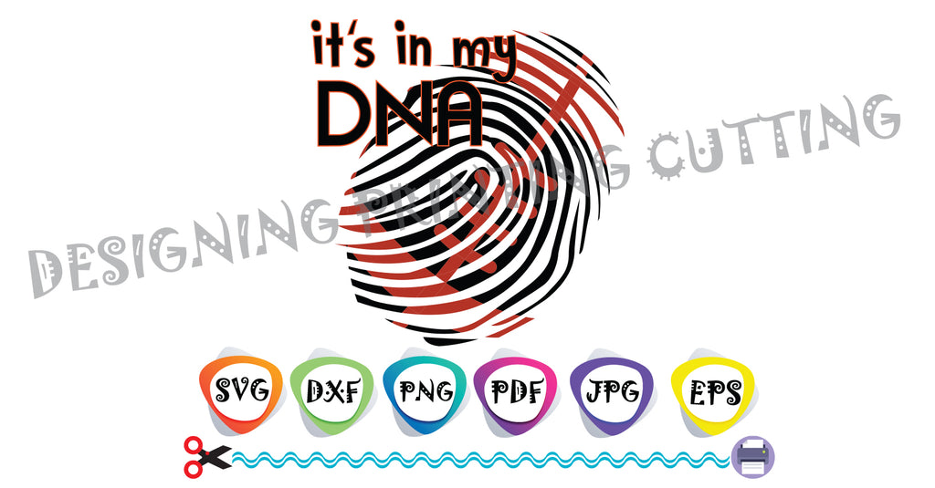 Football DNA SVG-Cut Files-Sports Svg-GIFT-Football Ball-Svg-T-shirt svg- Silhouette Cutting- Svg file for Cricut-Eps- Dxf- Pdf-