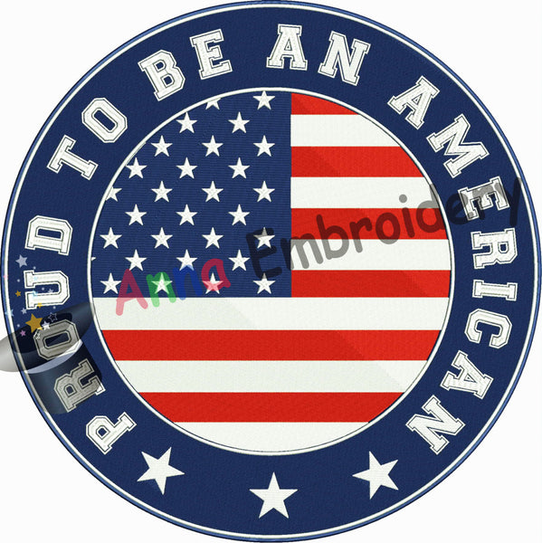 American flag Machine embroidery design,USA flag,9 sizes, 8 Formats
