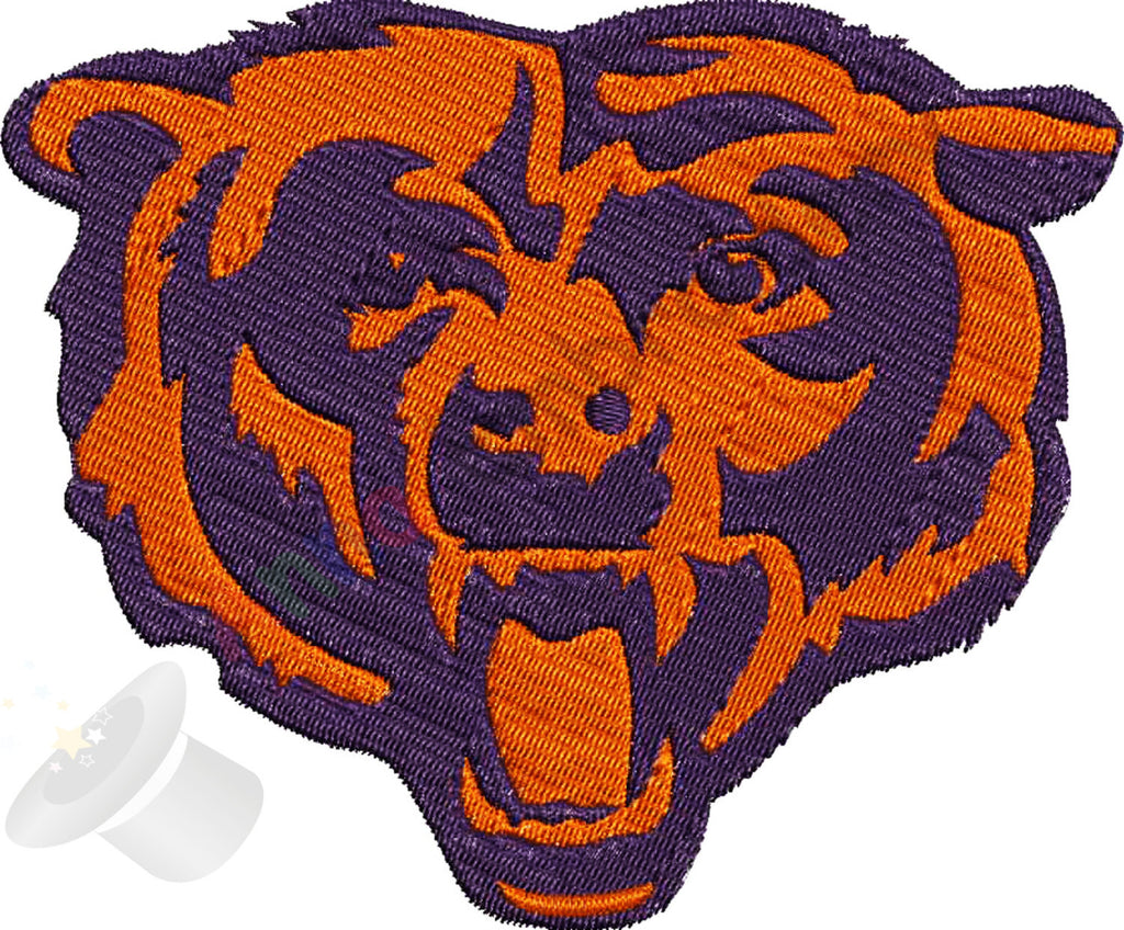 Bear Embroidery Design Sport Embroidery Football Embroidery