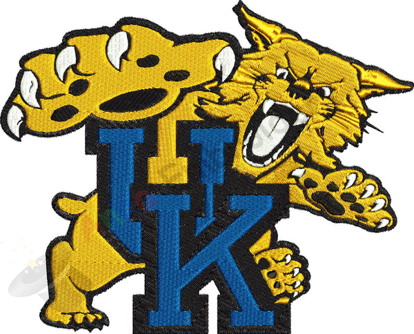 Wildcat Machine Embroidery Design,Sport embroidery,football,Football college team,filled stitch,machine patterns, 8 SIZES,INSTANT DOWNLOAD
