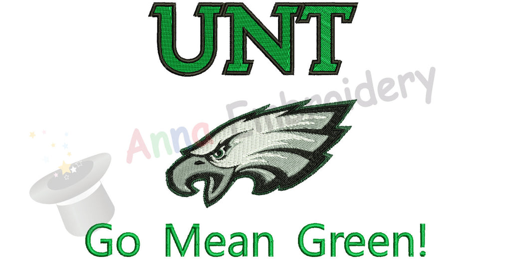 UNT Embroidery Design,Sport embroidery,Filled stitch,machine patterns, 8 SIZES, 12 formats