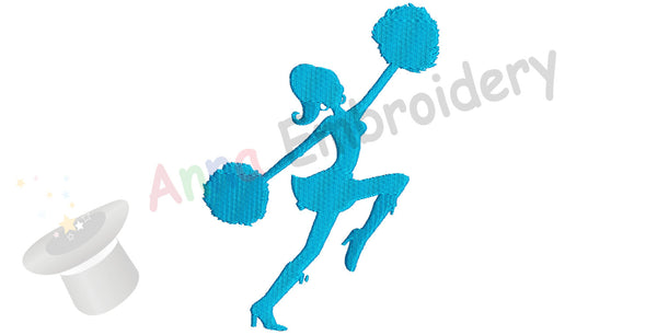Cheer Leader Embroidery Design-Sport Embroidery-Machine Patterns- Digital Download- PES