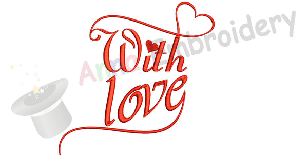 Love Embroidery Design-Wedding embroidery pattern