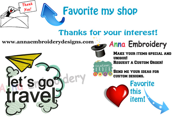 Airplane Embroidery Design-Paper Airplane Embroidery-Travel Embroidery Design-Holiday Embroidery-Embroidery Patterns-Instant Download-PES