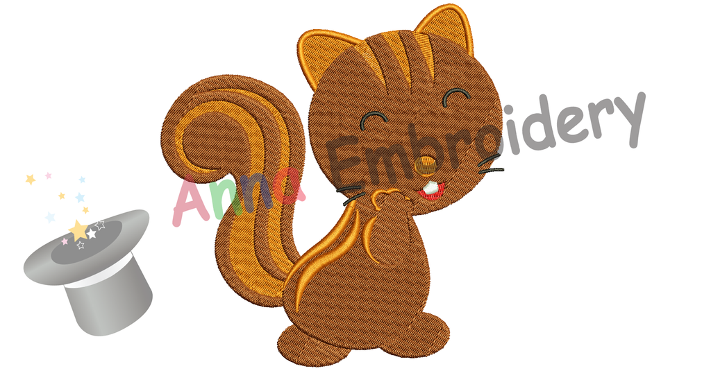 Free Squirrel Embroidery Design,Free Machine Patterns, Instant Download