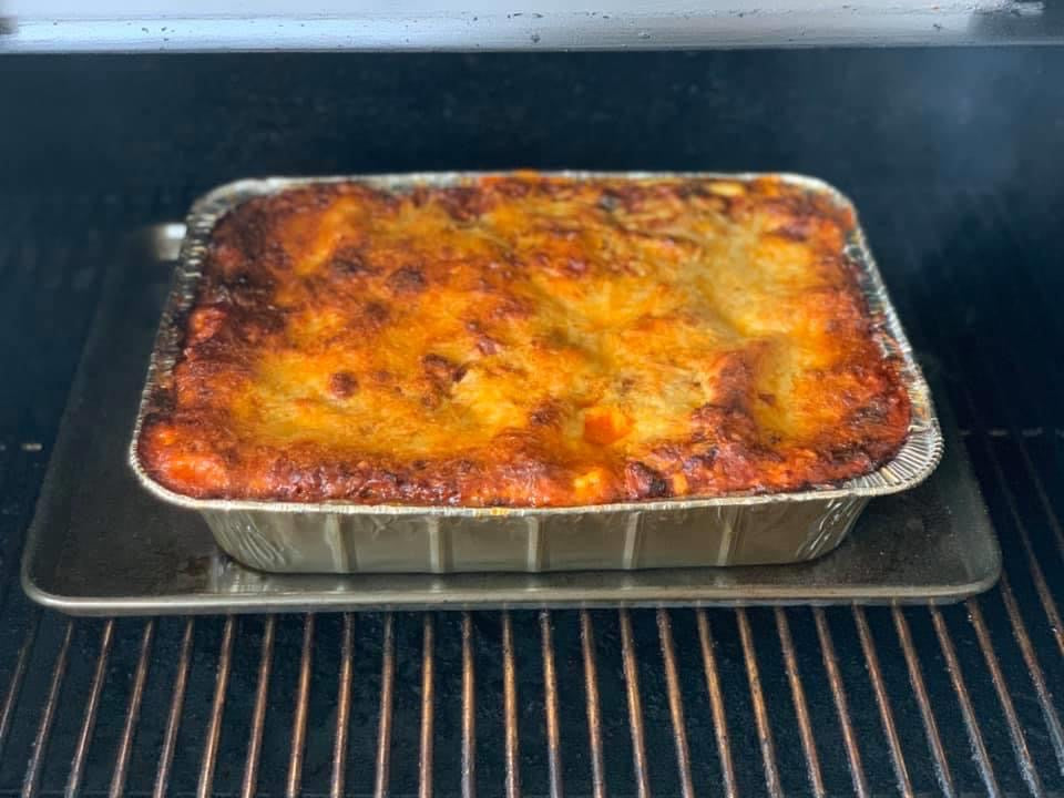 Smoked 3 Meat Lasagna
