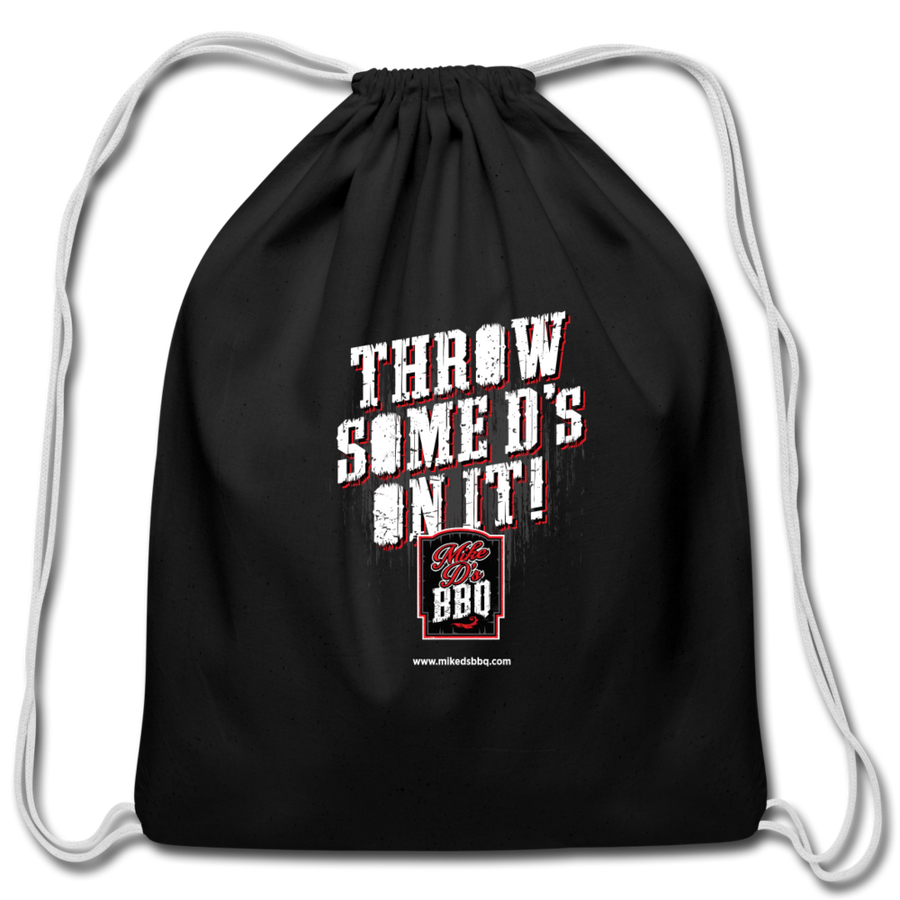 Mike D's BBQ Drawstring Bag - black
