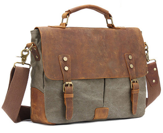 Military Canvas Satchel