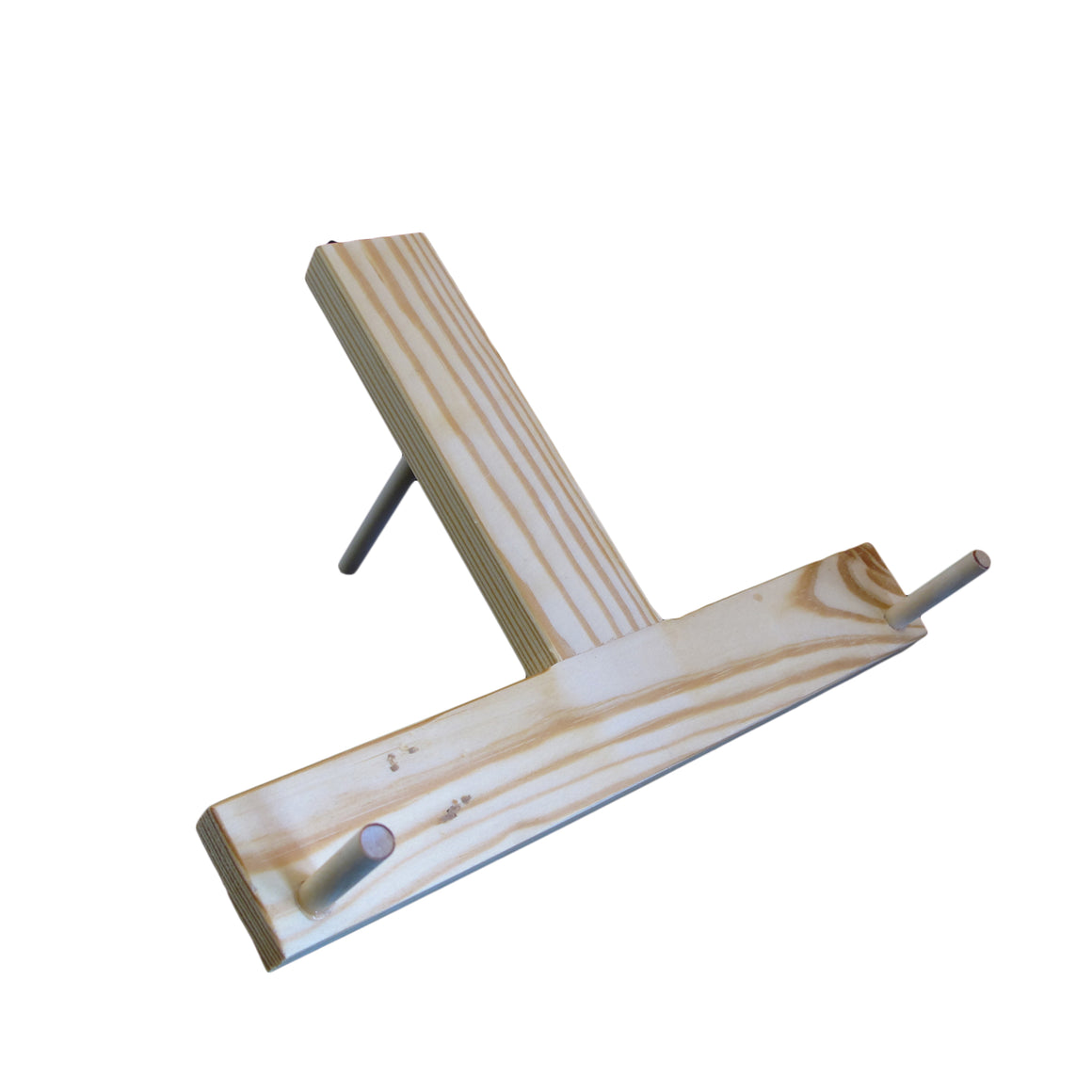 Wood lap harp display stand