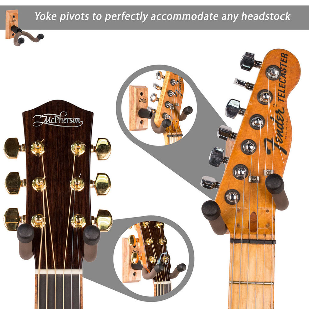 Dulcimer Wall Hanger - Guitar Head