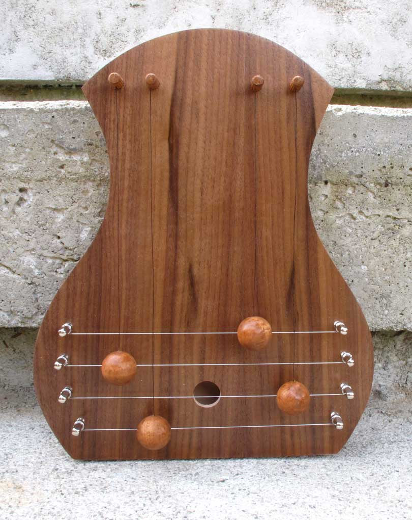 door harp with walnut facing and simple soundhole