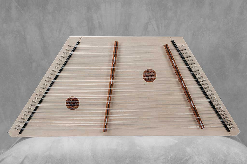 13/12 black top hammered dulcimer