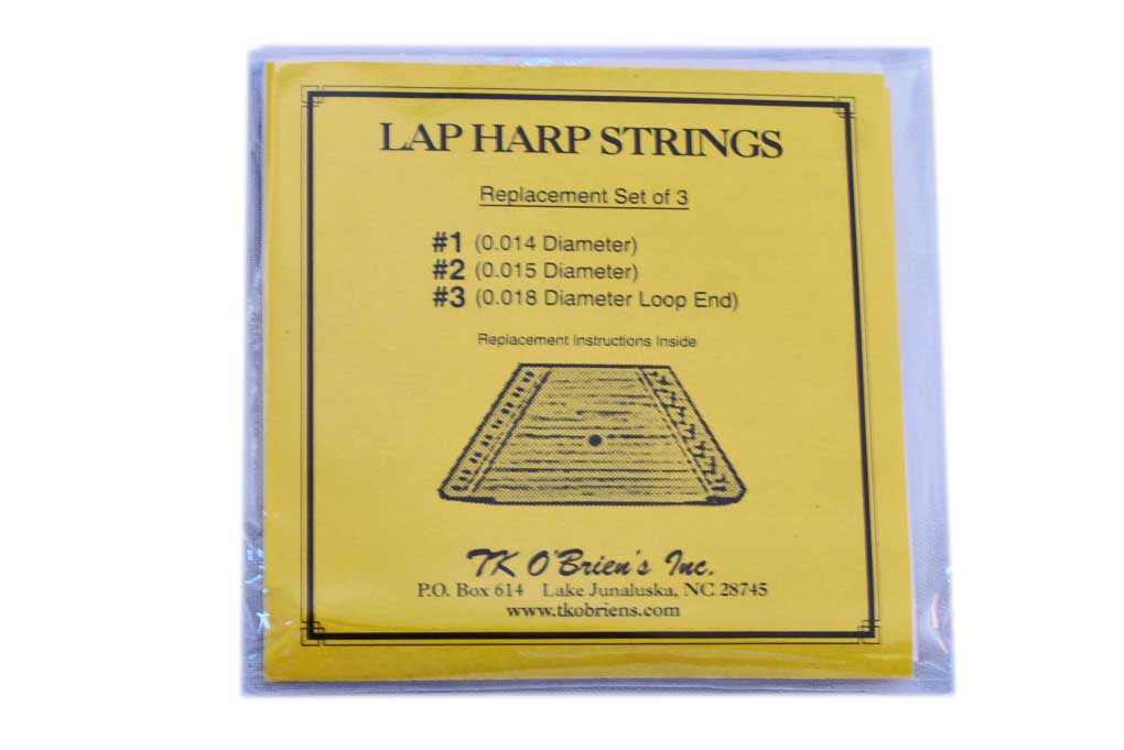 set of 3 size replacement strings for lap harp