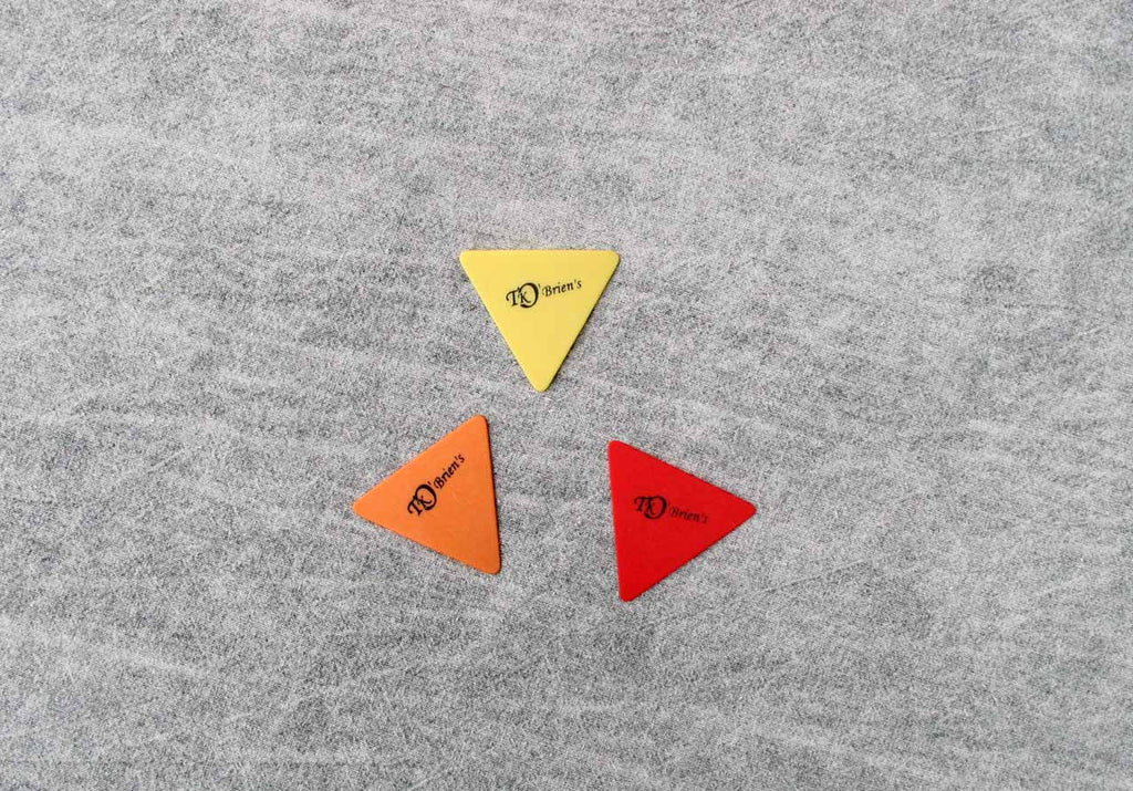 Dulcimer picks in triangular shape in 3 densities