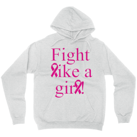 Fight Like A Girl Hoodies (No-Zip/Pullover)