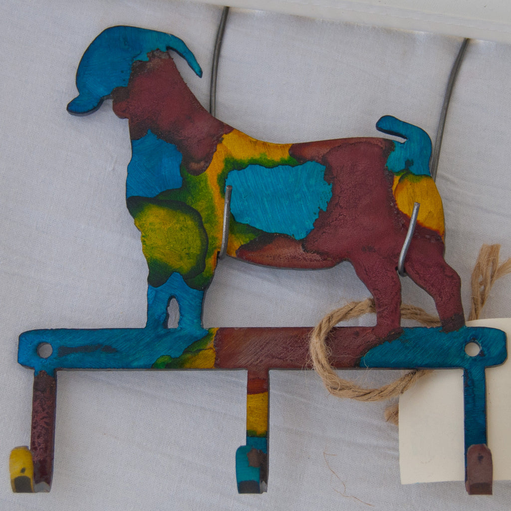 Multi-colored Boer goat small item/key hanger