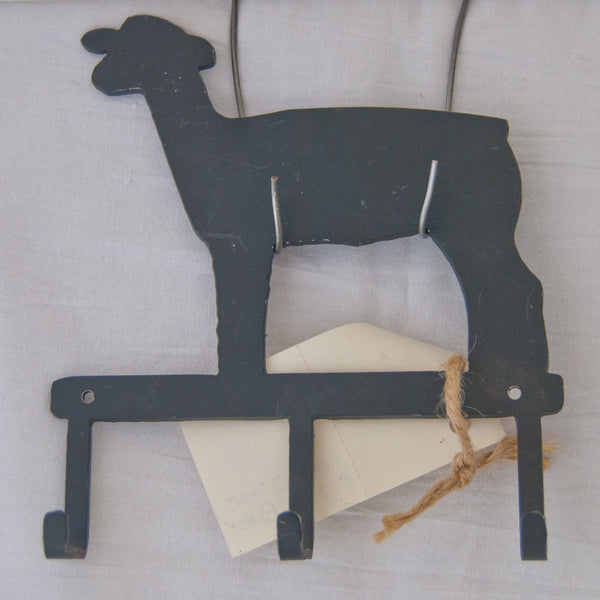 Black lamb small item/key hanger