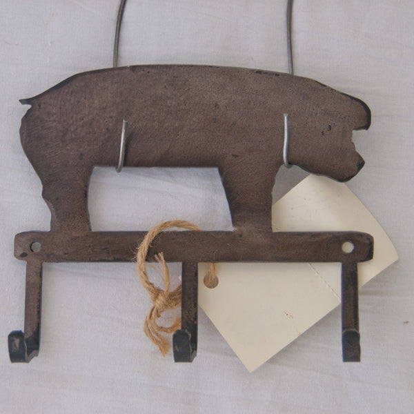 Black pig small item/key hanger