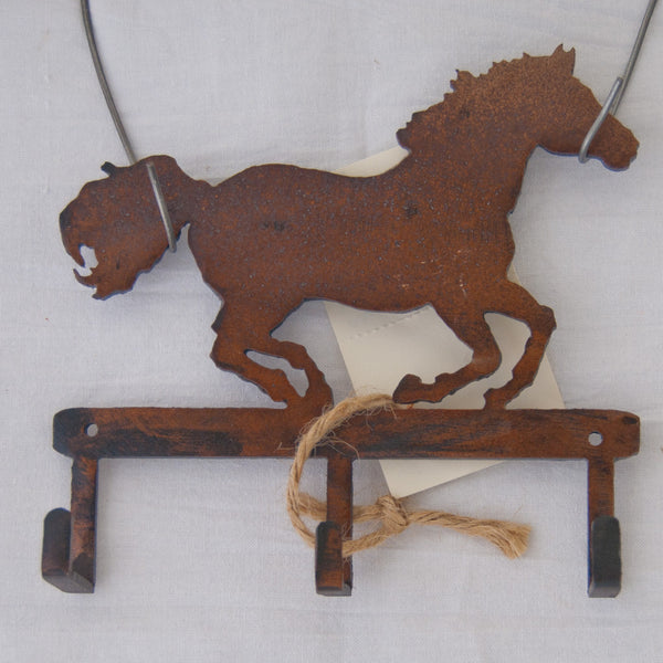 Brown running horse small item/key hanger