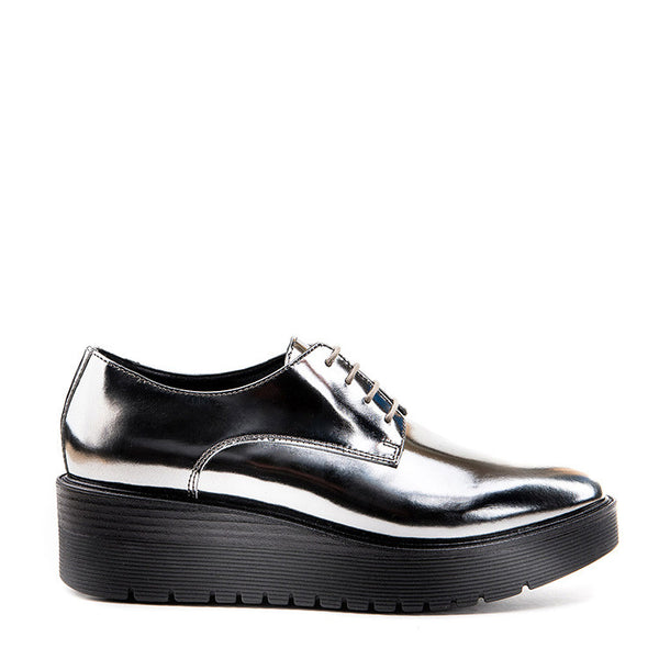 Metallic leather Oxford