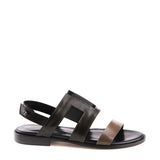 Flat sandal with back strap