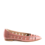 Cutout pointy loafers