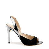 Open toe sling back heel