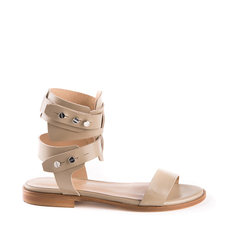 Gladiator sandals with removable strap