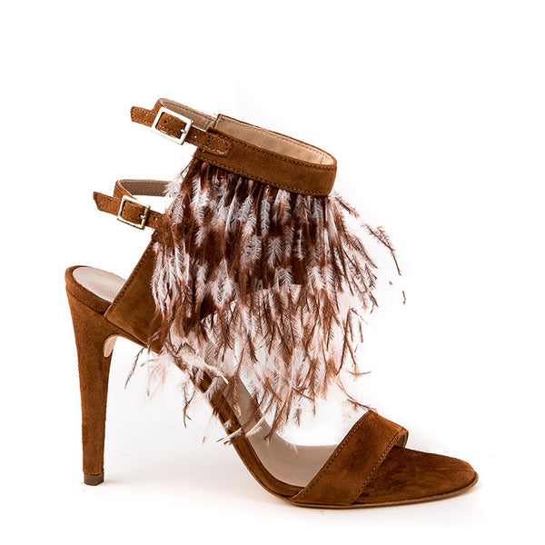 Feather suede sandal