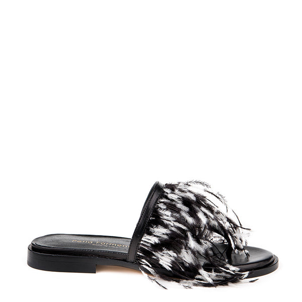 Feather flat thong sandal