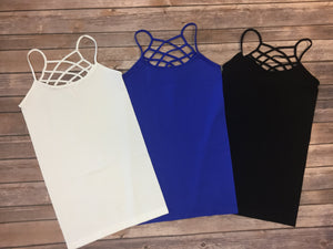 Reversible Criss Cross/Round Neck Long Cami