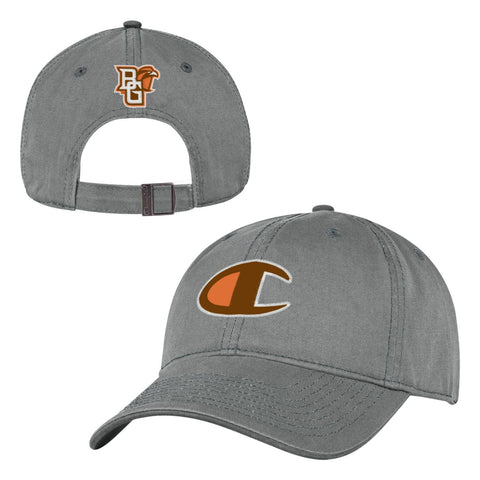 Grey BGSU Champion Logo Hat
