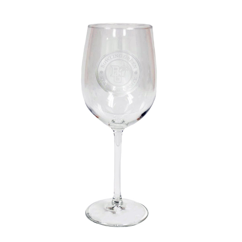 Wine Glass with Faux BGSU Seal, 12oz.