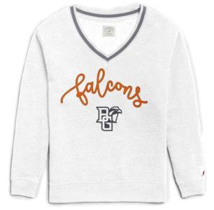 Ladies BGSU Victory V-Neck Sweatshirt