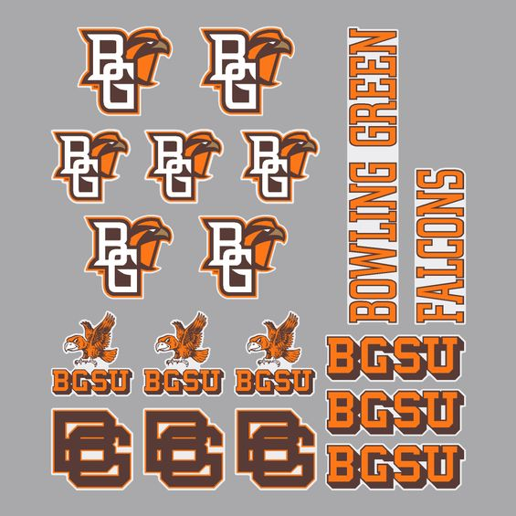 Multi-Design BGSU Sticker Sheet