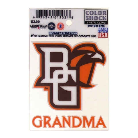 Peekaboo Grandma Static Decal