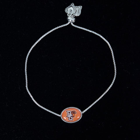 BGSU Adjustable Slider Bead Bracelet