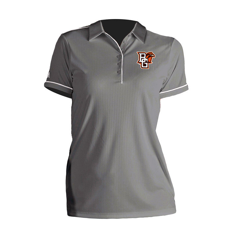 Ladies Grey Salute Polo with Peekaboo