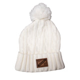 Pom Hat with Leather Patch