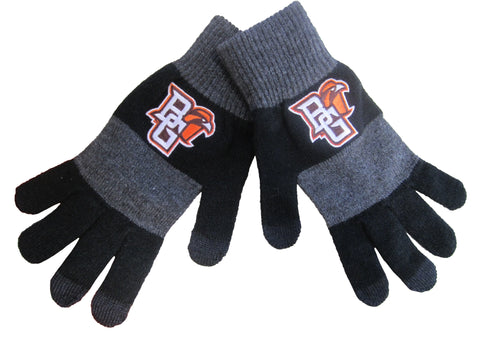 Black and Grey Smart-Touch Gloves